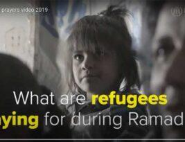 What are refugees praying for during Ramadan?